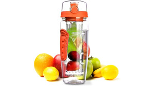 fruit-infuser water bottle to help stay hydrated
