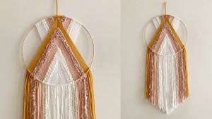 delicate macrame hanging