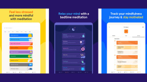 meditation app that provides guided meditations for topics like stress, anxiety, and sleep