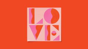 colorful love art print