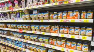 Baby food for sale inside Walmart.
