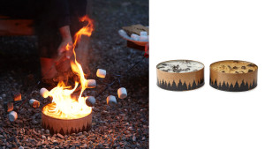 portable recyclable fire pit that burns without smoke or ash