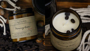 coffee scented candle