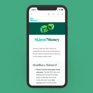 Newsletter sample of Skimm Money