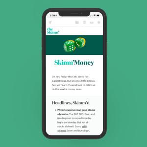 Newsletter sample of Skimm Money
