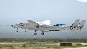 The Virgin Galactic SpaceShipTwo space plane Unity flies