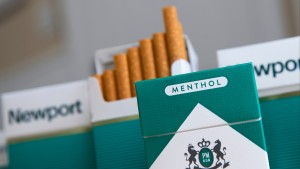Methol cigarettes displayed