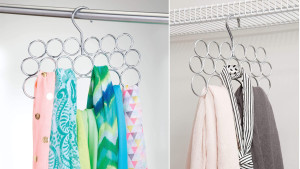 hanger that can hold up to 18 scarves