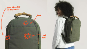 backpacks with slight cosmetic defects that are sold for less