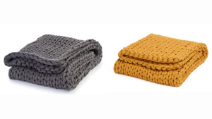 weighted knit blanket for sleep