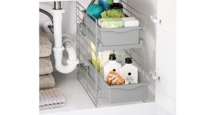under-the-sink sliding drawer storage unit