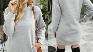 A sweatshirt dress