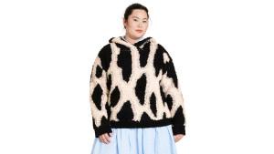 leopard print sherpa sweatshirt