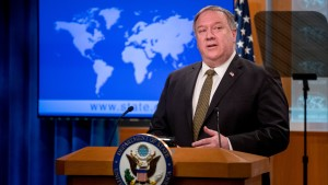 Secretary of State Mike Pompeo at press conference