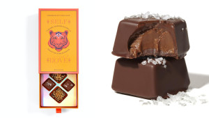 chocolate for valentine's day dark chocolate sea salt caramels and peanut butter chocolate