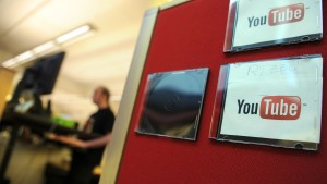 Employees work at the Youtube headquarters
