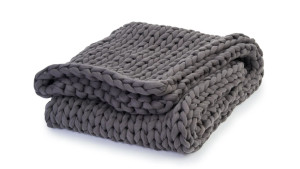 soft cotton knit weighted blanket for a more restful sleep
