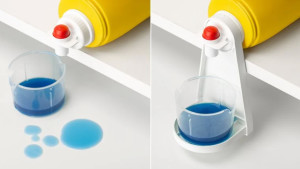 detergent drip cup to prevent detergent spills in laundry room