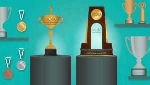 Trophies from the tournament