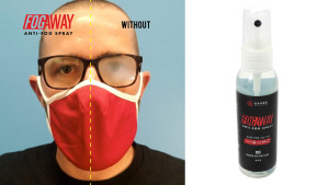 spray that keeps your glasses from fogging up