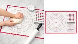 baking mat for measuring dough