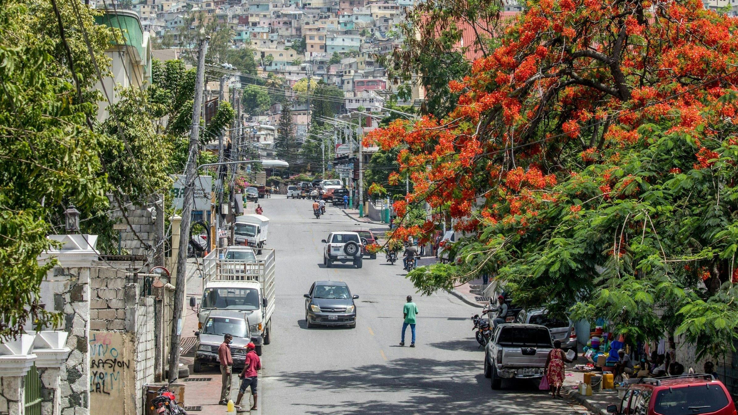 A street in Petionville, Port-au-Prince