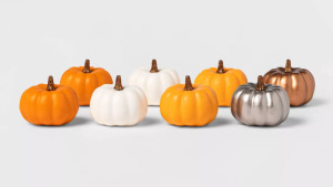 mini decor pumpkins