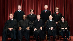 The Supreme Court justices posing for a group photo on April 23, 2021.