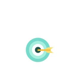 Bullseye with arrow