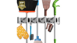 wall mount for mops and brooms