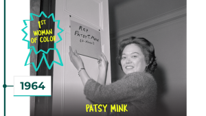 1964: Patsy Mink is first woman of color in Congress
