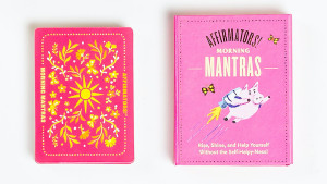 morning affirmation cards with positive mantras