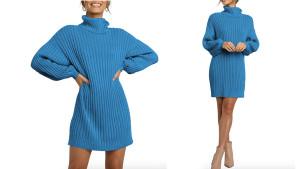 Oversized turtleneck sweaterdress