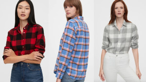 soft flannel long-sleeve shirt
