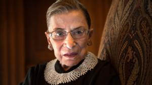 Supreme Court Justice Ruth Bader Ginsburg, celebrating her 20th anniversary on the bench