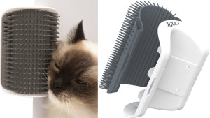self-grooming brush for cats