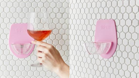 wine holder for the shower