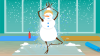 Holiday Zen - Snowman in tree pose