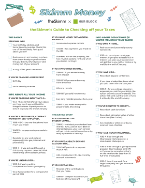 theSkimm's Guide to Checking off your taxes
