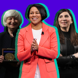 Janet Yellen, Rosalind Brewer, and Stacey Cunningham