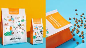 Colorful dog food bag