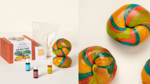 Make-your-own rainbow-bagel kit