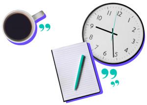 9 to 5ish Coffee Clock Notebook