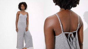 gray loose fitting jumpsuit