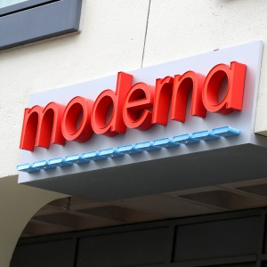 The Moderna headquarters in Cambridge, Massachusetts.