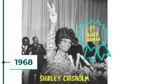 1968: Shirley Chisholm is first black woman in Congress