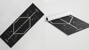 yoga mat with alignment markers