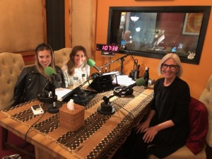 Eileen Fisher and hosts in studio