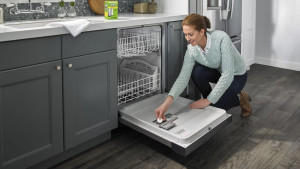 tablets to help clear mineral buildup in your dishwasher