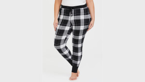plaid long pajama pants